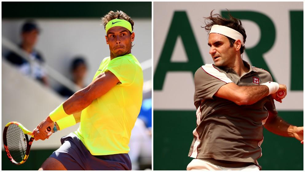 Rafael Nadal y Roger Federer. (Getty)