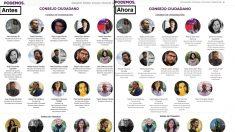 Cambios en la web de Podemos.