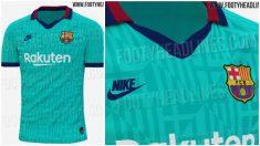 La camiseta del Barça ha apostado por un diseño de los 90.