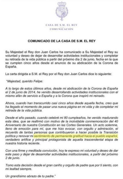 """Sánchez plagia hasta al Rey Juan Carlos: le copia la expresión """"gratitud hacia el pueblo español"""""""