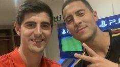 Thibaut Courtois y Eden Hazard. (@thibautcourtois)