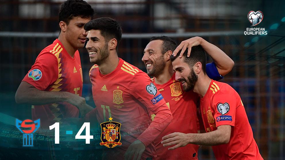 España se impuso 1-4 a las Islas Feroe.