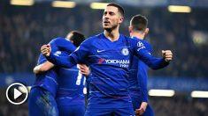 Eden Hazard celebra un gol con el Chelsea. (Getty)