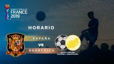 Horario y dónde ver por televisión España-Sudáfrica en el Mundial de fútbol femenino.