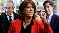 El banquero Jaime Botín, la ministra Dolores Delgado y el Pequeño Nicolás.