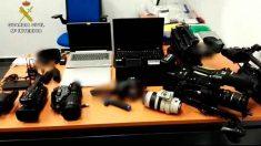 Material de prensa robado durante la final de la Champions League en Madrid valorado en 130.000 euros. Foto: EP