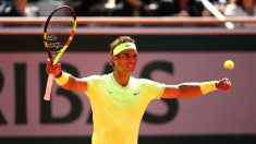 Nadal celebra su victoria ante Federer. (Getty)