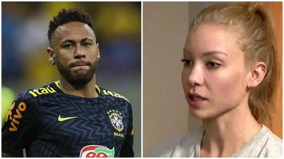 Neymar y Najila Trindade.
