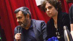 Pablo Fernández Alarcón, gerente de Podemos, junto a Gloria Elizo, miembro de la dirección podemita y vicepresidenta primera del Congreso de los Diputados
