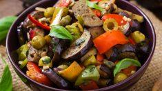 Receta de Berenjenas criollas al wok