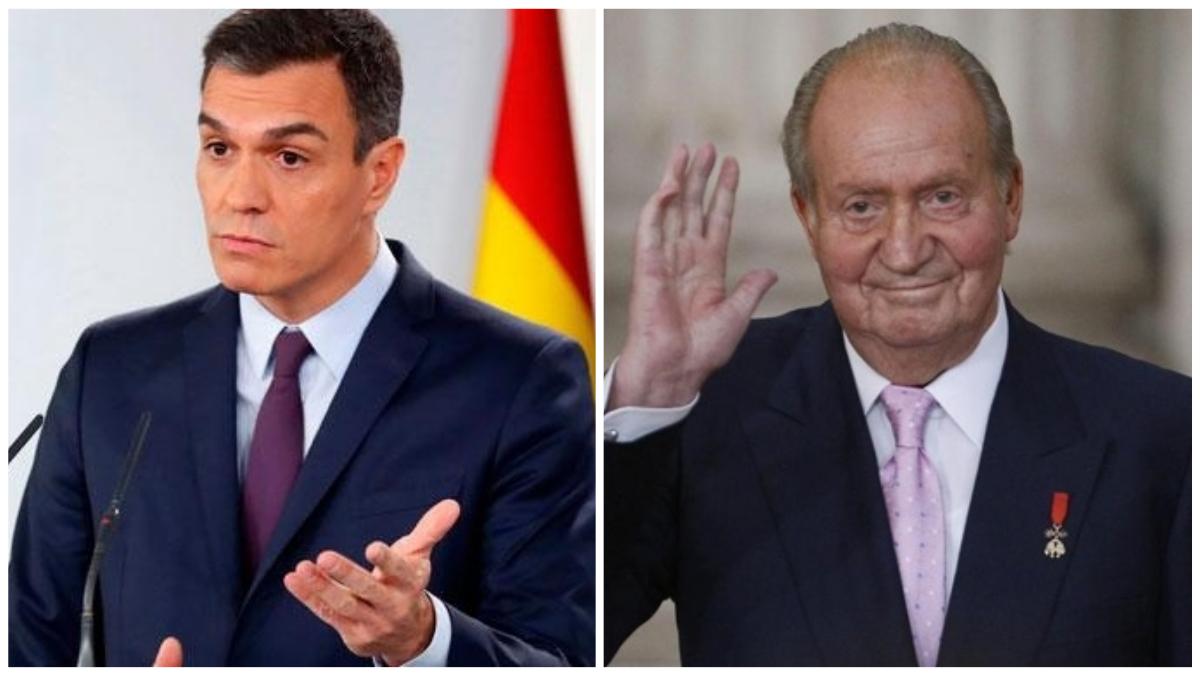 Pedro Sánchez y Juan Carlos I
