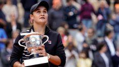 Barty, campeona de Roland Garros. (AFP)