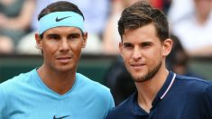 Rafa Nadal y Dominic Thiem en la final de Roland Garros del año pasado. (AFP)