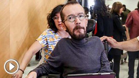 Pablo Echenique a su llegada al Consejo de Podemos.