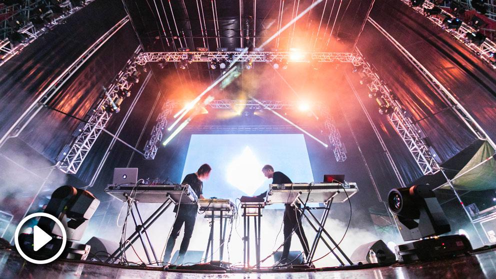 Kiasmos actuando en la edición 2018 del festival Paraíso de Madrid. Foto: Rodrigo Mena Ruiz