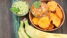 Receta de Patacones con guacamole