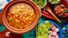 Receta de pozole vegetariano mexicano