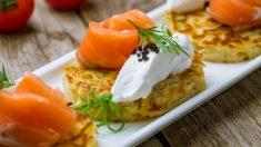 Receta de bocaditos de patata y salmón