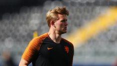 De Ligt, durante un entrenamiento con Holanda (Getty).