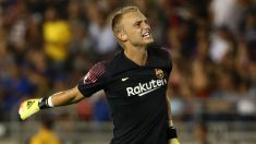 Jasper Cillessen con el Barcelona (AFP)