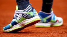 Las zapatillas de Rafael Nadal en Roland Garros. (Getty)