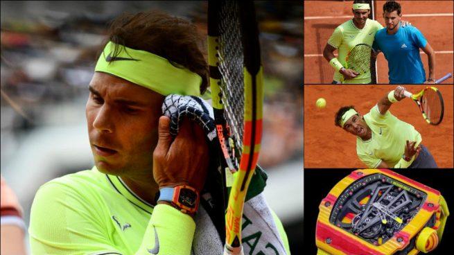 Nadal volvió a lucir en la final de Roland Garros el reloj con la bandera de España que le recomendó el Rey Juan Carlos