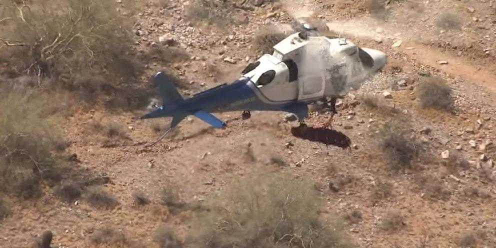 Facebook: Un rescate en helicóptero casi termina en tragedia