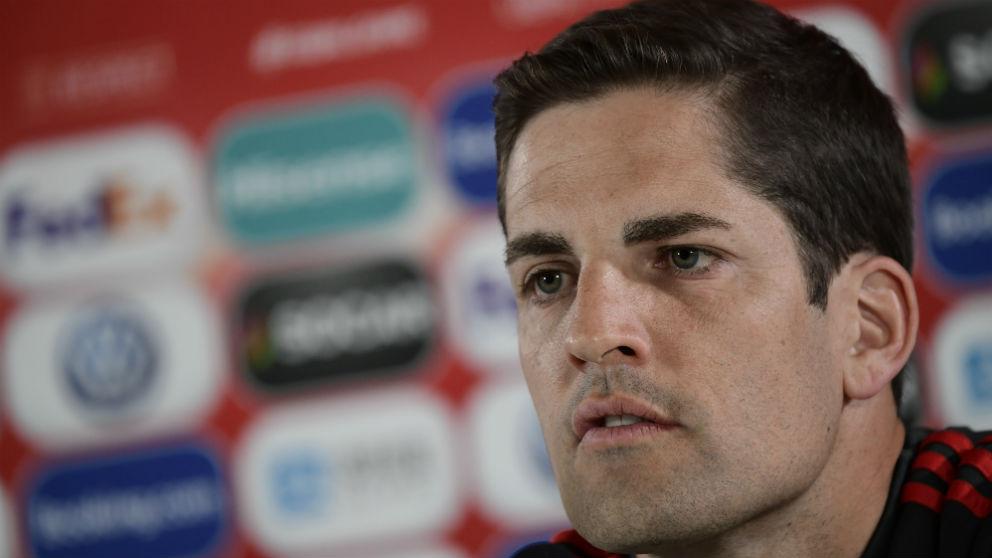 Robert Moreno, durante una rueda de prensa. (AFP)