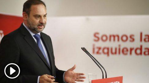 José Luis Ábalos, en la rueda de prensa de este lunes