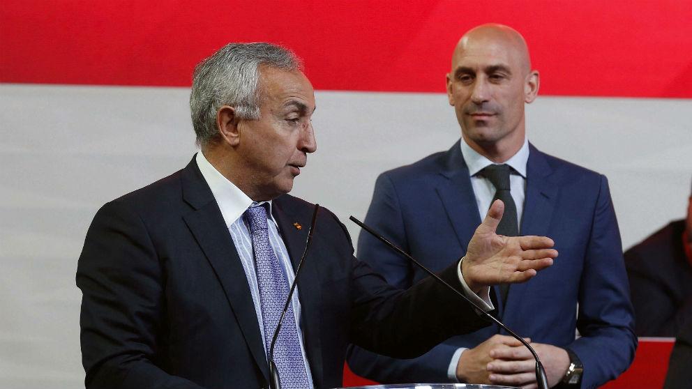 Alejandro Blanco, durante la Asamblea de la RFEF. (EFE)