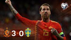 España se impuso por 3-0 a Suecia en el Bernabéu.