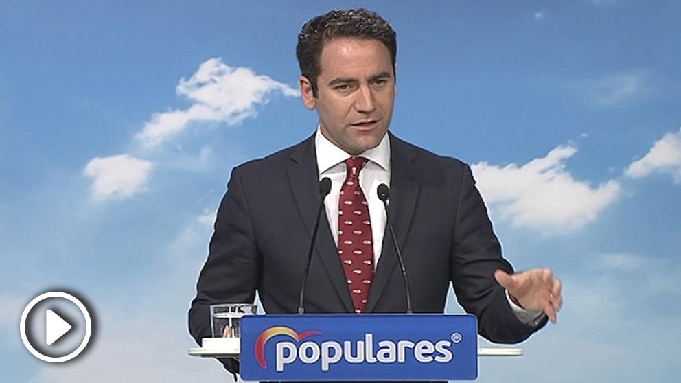 García Egea anuncia reuniones con Cs y con VOX. (Foto: Europa Press).