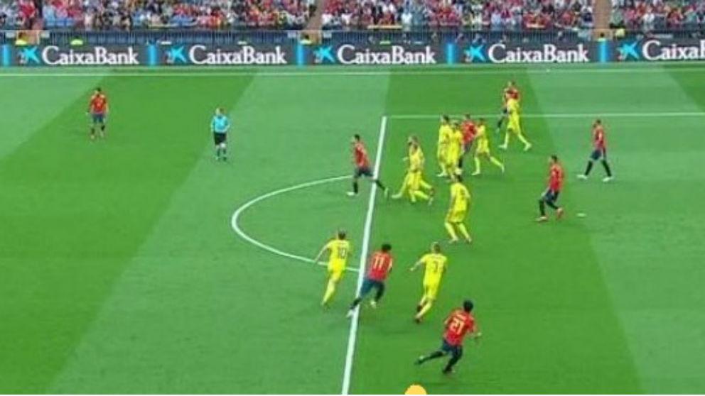 Parejo y Rodrigo no estaban en fuera de juego.