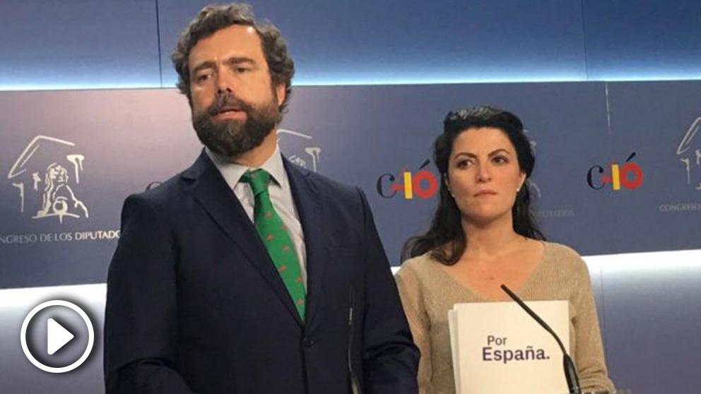 Iván Espinosa de los Monteros y Macarena Olona, de Vox