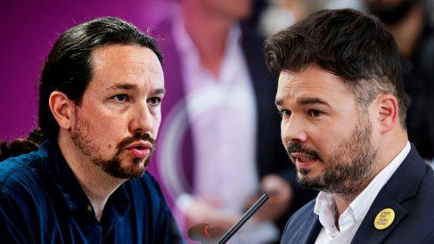 Pablo Iglesias y Gabriel Rufián.