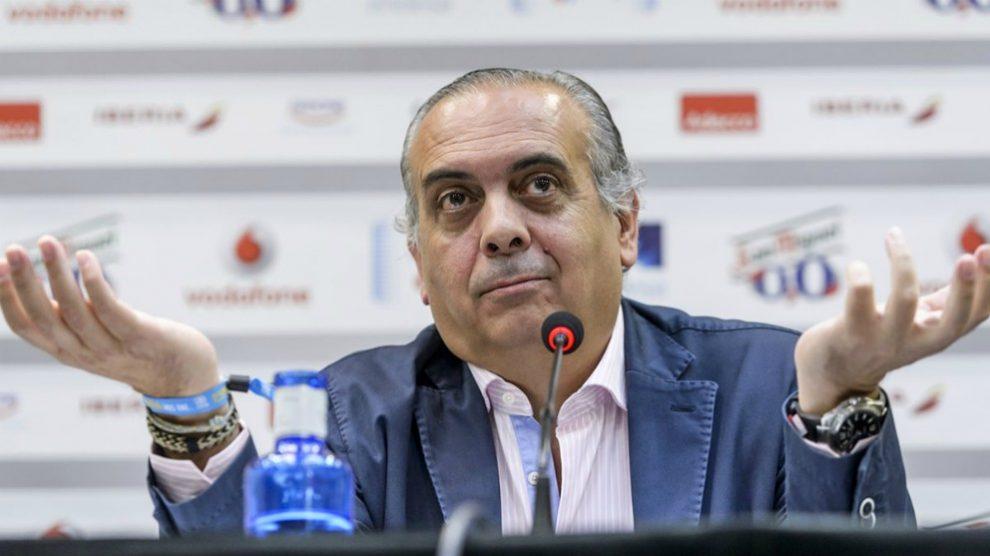 José Luis Sáez, en una rueda de prensa.