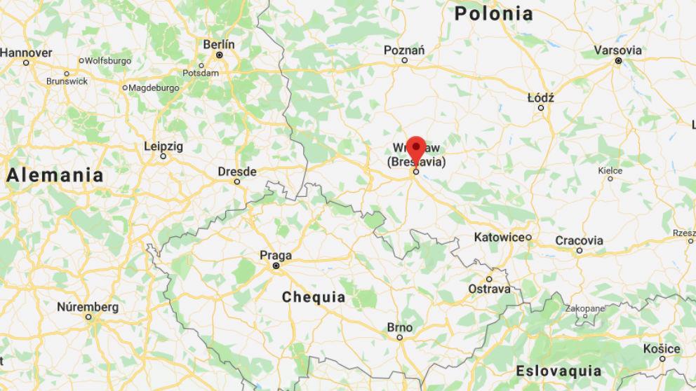Breslavia, lugar de los hechos. Google Maps