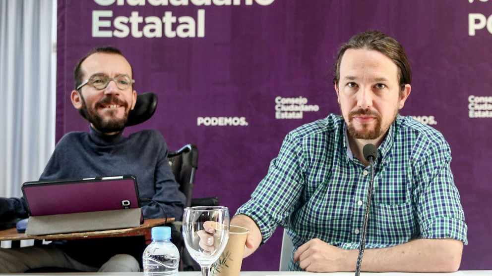 Pablo Iglesias y Pablo Echenique. Foto: Europa Press