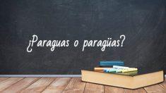 Cómo se escribe paraguas o paragüas