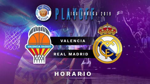 Semifinales Playoff Liga Endesa 2019: Valencia Basket – Real Madrid | Horario del partido de baloncesto de Liga Endesa.