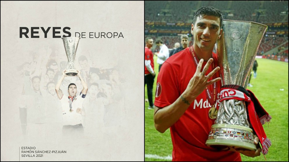 La RFEF lanza la campaña Reyes de Europa para que el Pizjuán sea sede de la final de la Europa League 2021.