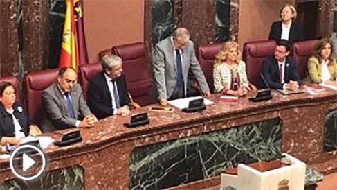 Sesión constitutiva de la Asamblea Regional de Murcia. Foto: EP