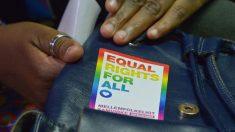 Una activista por los derechos LGTBI en Botsuana. Foto: AFP