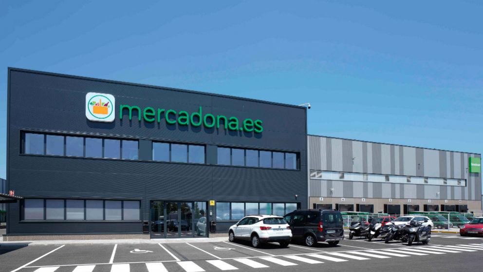 Exterior del almacén para la venta online ubicado en Barcelona (Foto: Mercadona)