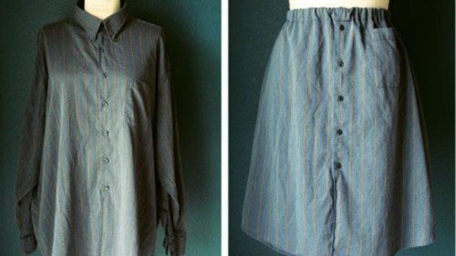 Hacer una falda con una camisa