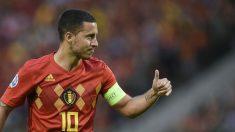 Eden Hazard, protagonista en el Bélgica-Escocia (AFP).