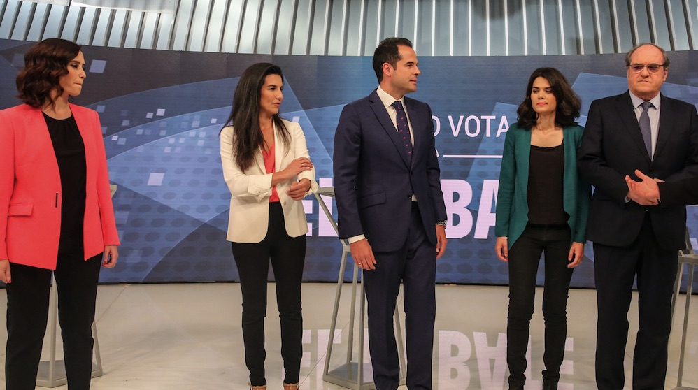 Candidatos de las pasadas elecciones: Isabel Díaz Ayuso, Rocio Monasterio e Ignacio Aguado. (Foto. EP)