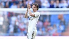 Luka Modric, durante un partido del Real Madrid (Getty).