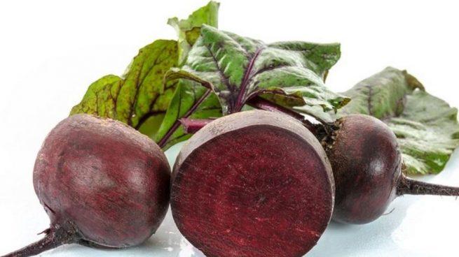 verduras de color morado