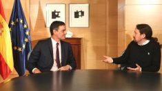 Pedro Sánchez y Pablo Iglesias, en un encuentro reciente.